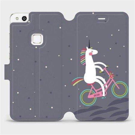 Flipové pouzdro Mobiwear na mobil Huawei P10 Lite - V024P Jednorožec na kole