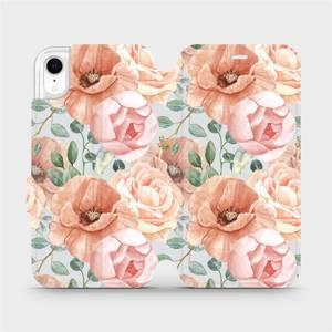 Flip pouzdro Mobiwear na mobil Apple iPhone XR - MP02S Pastelové květy