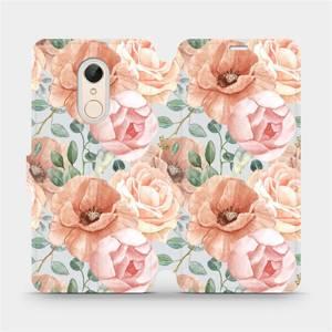 Flip pouzdro Mobiwear na mobil Xiaomi Redmi 5 - MP02S Pastelové květy
