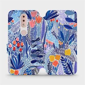 Flip pouzdro Mobiwear na mobil Nokia 4.2 - MP03P Modrá květena