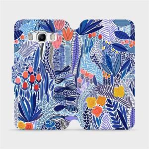 Flip pouzdro Mobiwear na mobil Samsung Galaxy J5 2016 - MP03P Modrá květena
