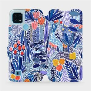 Flip pouzdro Mobiwear na mobil Realme C21 - MP03P Modrá květena