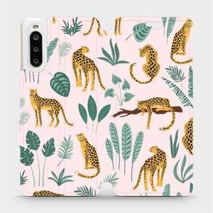 Flip pouzdro Mobiwear na mobil Sony Xperia 10 II - MP07S Leopardi