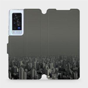 Flip pouzdro Mobiwear na mobil Vivo X60 Pro 5G - V063P Město v šedém hávu