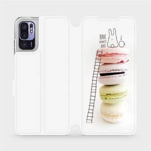 Flip pouzdro Mobiwear na mobil Xiaomi Redmi Note 10 5G - M090P Makronky - have a nice day