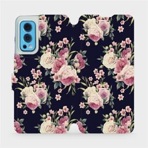 Flip pouzdro Mobiwear na mobil OnePlus Nord 2 5G - V068P Růžičky