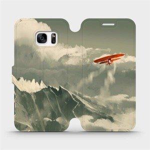Flipové pouzdro Mobiwear na mobil Samsung Galaxy S7 - MA03P Oranžové letadlo v horách