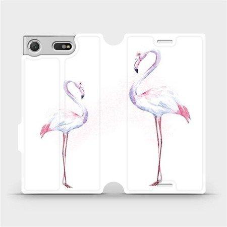Flipové pouzdro Mobiwear na mobil Sony Xperia XZ1 Compact - M005S Plameňáci