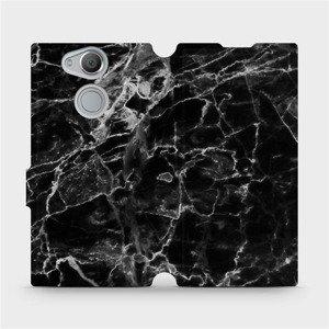 Flipové pouzdro Mobiwear na mobil Sony Xperia XA2 - V056P Černý mramor