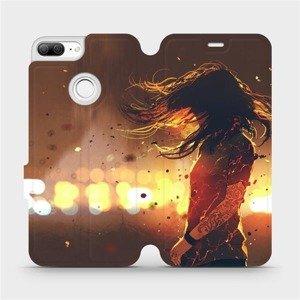 Flipové pouzdro Mobiwear na mobil Honor 9 Lite - MA02S Tetovaná dívka