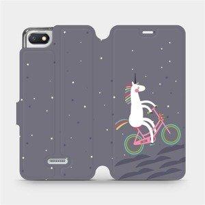 Flipové pouzdro Mobiwear na mobil Xiaomi Redmi 6A - V024P Jednorožec na kole