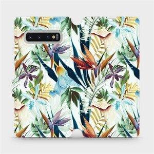 Flipové pouzdro Mobiwear na mobil Samsung Galaxy S10 Plus - M071P Flóra