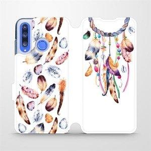 Flipové pouzdro Mobiwear na mobil Honor 20 Lite - M003S Lapač a barevná pírka
