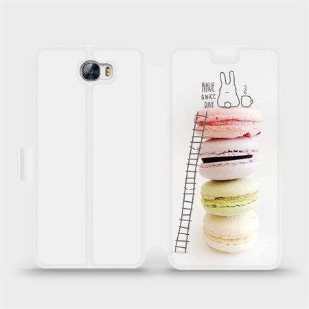 Flipové pouzdro Mobiwear na mobil Huawei Y6 II Compact - M090P Makronky - have a nice day