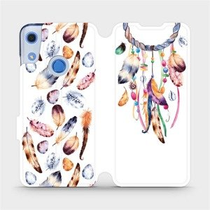 Flipové pouzdro Mobiwear na mobil Huawei Y6S - M003S Lapač a barevná pírka