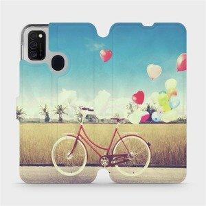 Flipové pouzdro Mobiwear na mobil Samsung Galaxy M21 - M133P Kolo a balónky