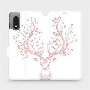 Flipové pouzdro Mobiwear na mobil Samsung Xcover PRO - M007S Růžový jelínek