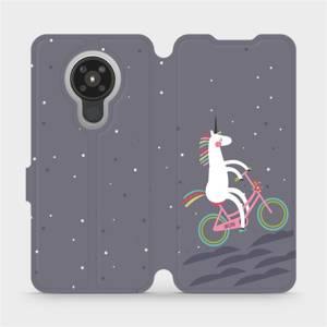 Flipové pouzdro Mobiwear na mobil Nokia 5.3 - V024P Jednorožec na kole
