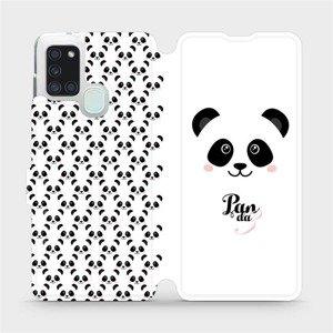 Flipové pouzdro Mobiwear na mobil Samsung Galaxy A21S - M030P Panda Amálka