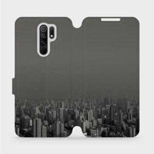 Flipové pouzdro Mobiwear na mobil Xiaomi Redmi 9 - V063P Město v šedém hávu