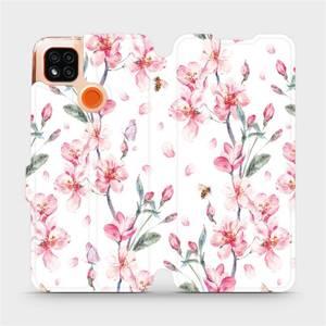 Flipové pouzdro Mobiwear na mobil Xiaomi Redmi 9C - M124S Růžové květy