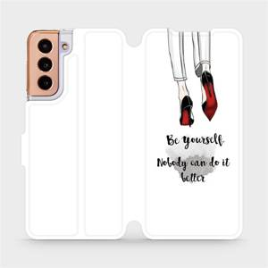 Flipové pouzdro Mobiwear na mobil Samsung Galaxy S21 5G - M046P Be yourself