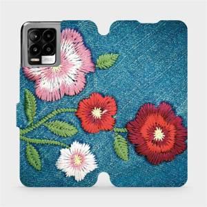 Flip pouzdro Mobiwear na mobil Realme 8 - MD05P Džínové květy