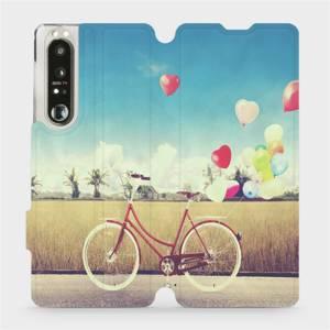 Flip pouzdro Mobiwear na mobil Sony Xperia 1 III - M133P Kolo a balónky