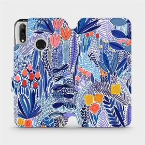Flip pouzdro Mobiwear na mobil Huawei Y7 2019 - MP03P Modrá květena