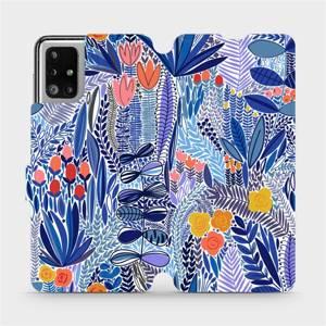Flip pouzdro Mobiwear na mobil Samsung Galaxy M51 - MP03P Modrá květena