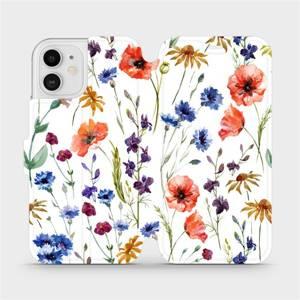 Flip pouzdro Mobiwear na mobil Apple iPhone 12 - MP04S Luční kvítí