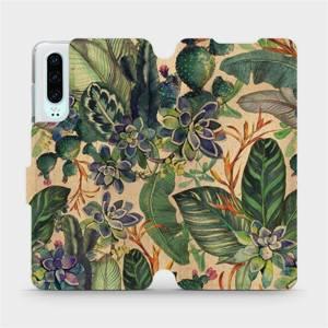 Flip pouzdro Mobiwear na mobil Huawei P30 - VP05S Sukulenty