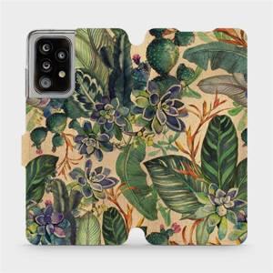 Flip pouzdro Mobiwear na mobil Samsung Galaxy A52 / A52 5G - VP05S Sukulenty