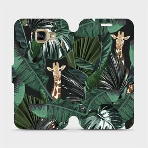 Flip pouzdro Mobiwear na mobil Samsung Galaxy A3 2016 - VP06P Žirafky