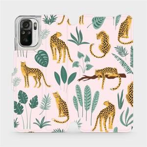 Flip pouzdro Mobiwear na mobil Xiaomi Redmi Note 10 - MP07S Leopardi