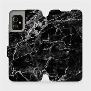 Flip pouzdro Mobiwear na mobil Asus Zenfone 8 - V056P Černý mramor