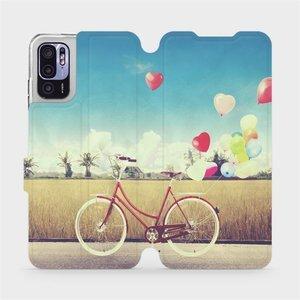 Flip pouzdro Mobiwear na mobil Xiaomi Redmi Note 10 5G - M133P Kolo a balónky