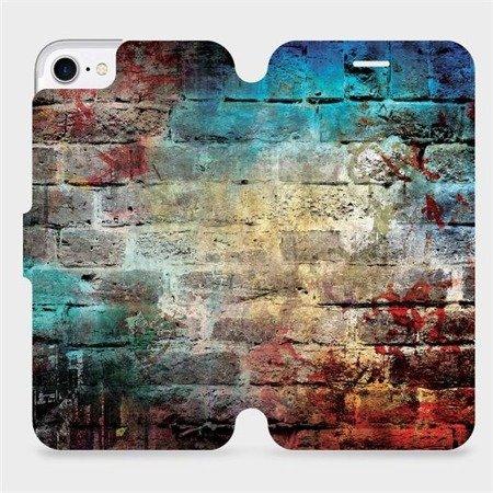 Flipové pouzdro Mobiwear na mobil Apple iPhone 8 - V061P Zeď