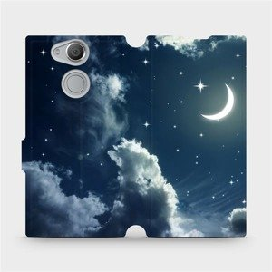 Flipové pouzdro Mobiwear na mobil Sony Xperia XA2 - V145P Noční obloha s měsícem
