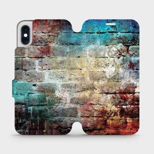 Flipové pouzdro Mobiwear na mobil Apple iPhone XS - V061P Zeď