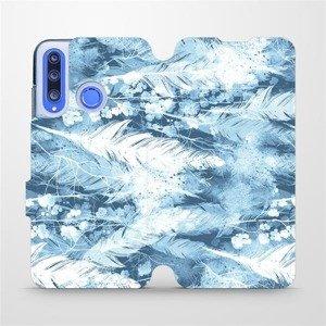 Flipové pouzdro Mobiwear na mobil Honor 20 Lite - M058S Světle modrá horizontální pírka