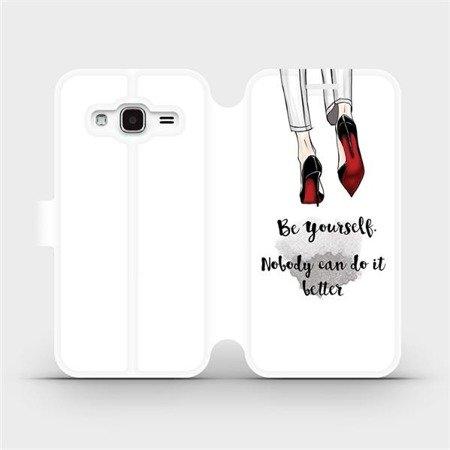 Flipové pouzdro Mobiwear na mobil Samsung Galaxy J3 2016 - M046P Be yourself