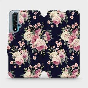 Flipové pouzdro Mobiwear na mobil Huawei Nova 5T - V068P Růžičky