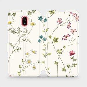 Flipové pouzdro Mobiwear na mobil Xiaomi Redmi 8a - MD03S Tenké rostlinky s květy