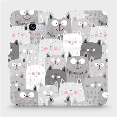 Flipové pouzdro Mobiwear na mobil Samsung Galaxy S8 - M099P Kočičky