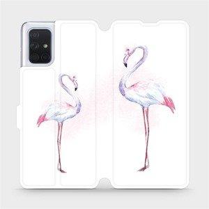 Flipové pouzdro Mobiwear na mobil Samsung Galaxy A71 - M005S Plameňáci