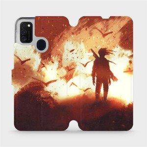 Flipové pouzdro Mobiwear na mobil Samsung Galaxy M21 - MA06S Postava v ohni