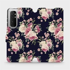 Flipové pouzdro Mobiwear na mobil Xiaomi Mi Note 10 Lite - V068P Růžičky