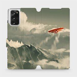 Flipové pouzdro Mobiwear na mobil Samsung Galaxy Note 20 - MA03P Oranžové letadlo v horách