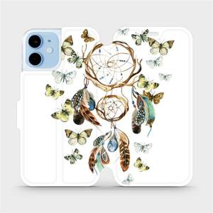 Flipové pouzdro Mobiwear na mobil Apple iPhone 12 mini - M001P Lapač a motýlci